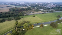 Alter Flugplatz Bonames mit Nidda. © S. Rösner
